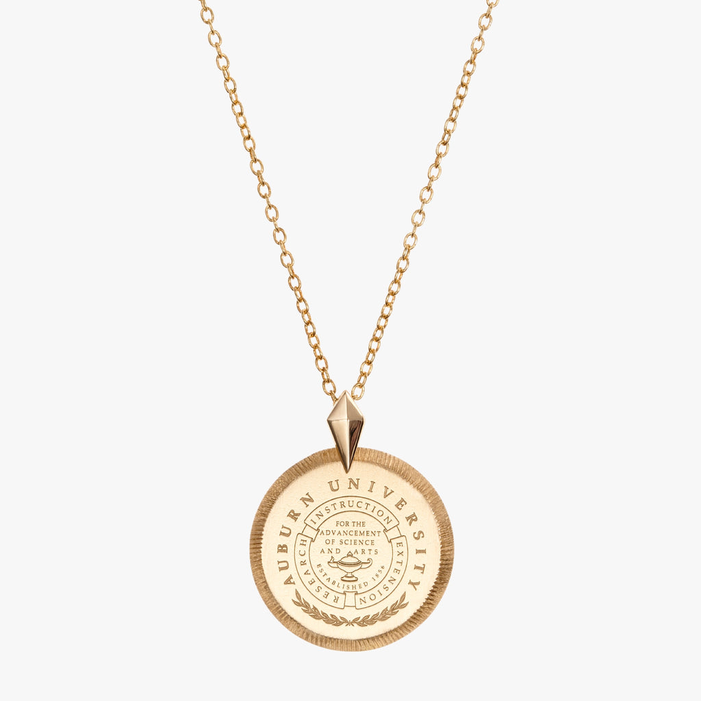 Gold Auburn Florentine Crest Necklace