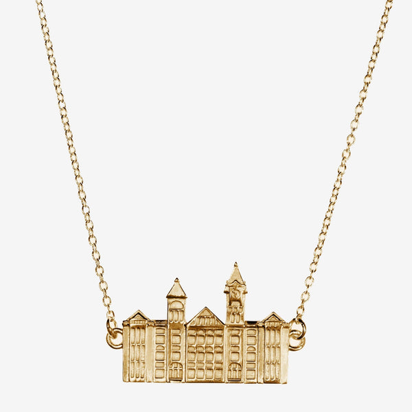 Gold Auburn Samford Hall Necklace