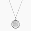 Silver Alpha Xi Delta Sunburst Crest Necklace