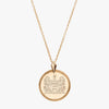 Gold Alpha Xi Delta Florentine Necklace Petite