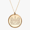 Gold Alpha Xi Delta Florentine Necklace