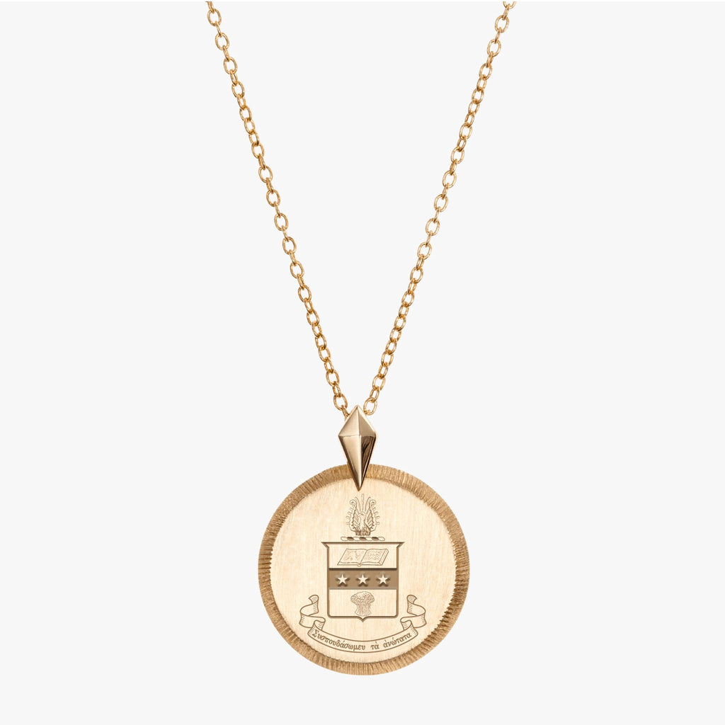 Alpha Chi Omega Gold Florentine Necklace Petite
