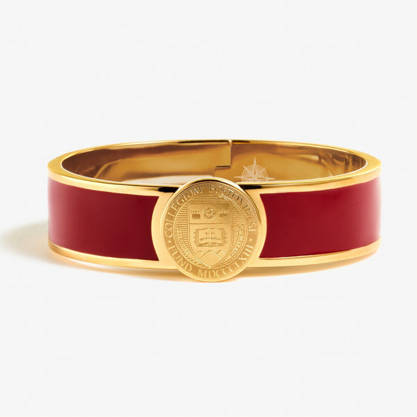Red Boston College Crest Enamel Bracelet