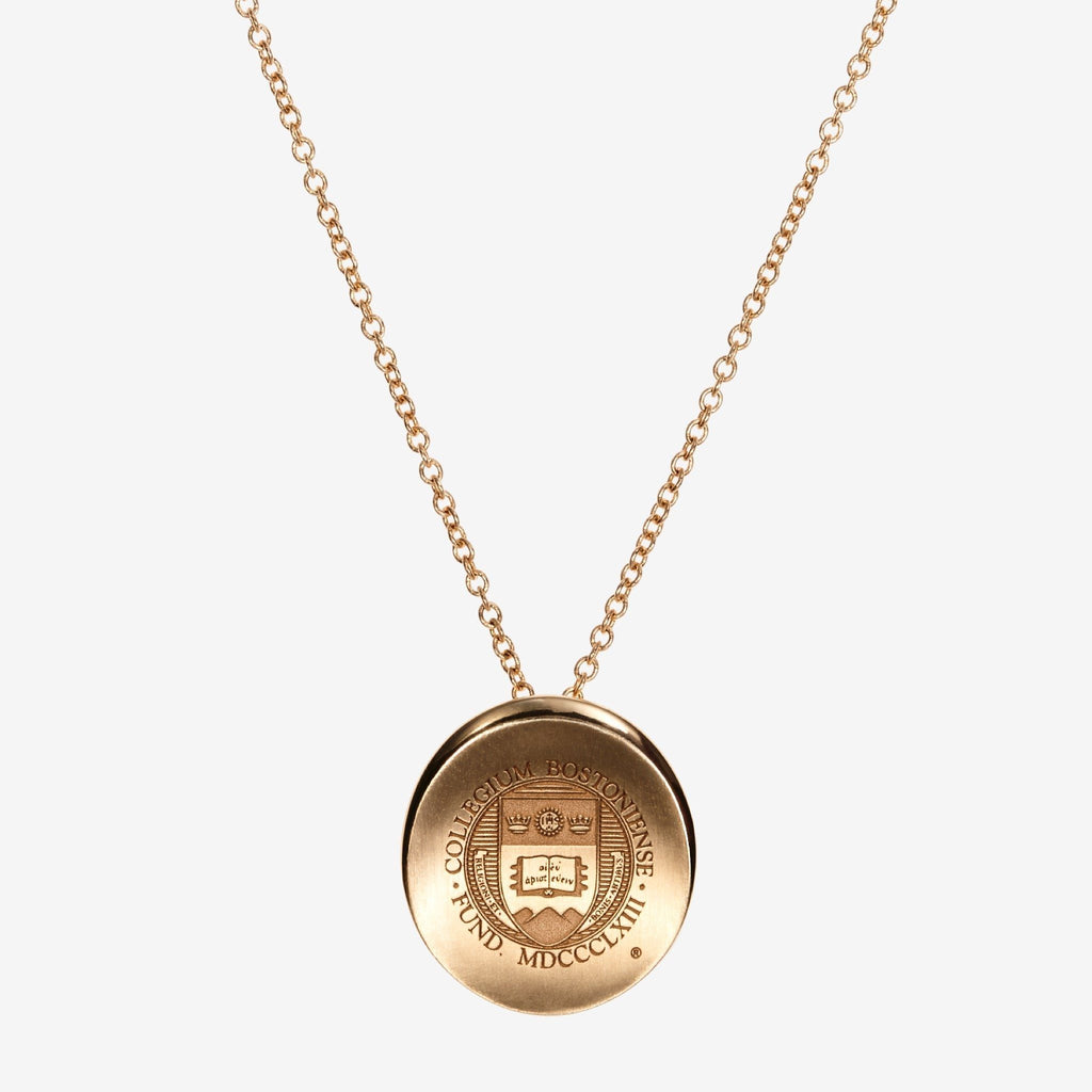 Gold Boston College Organic Crest Necklace