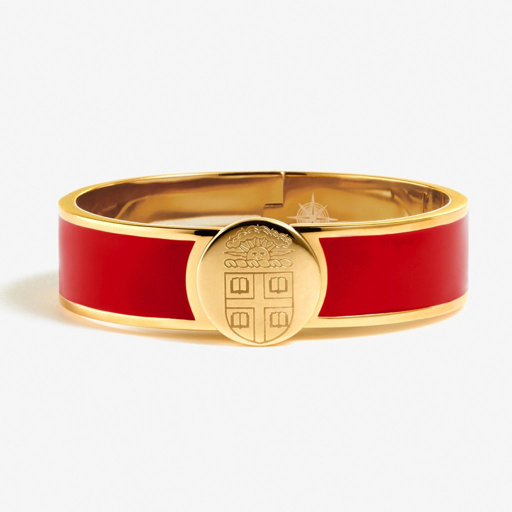 Red Brown Enamel Crest Bracelet
