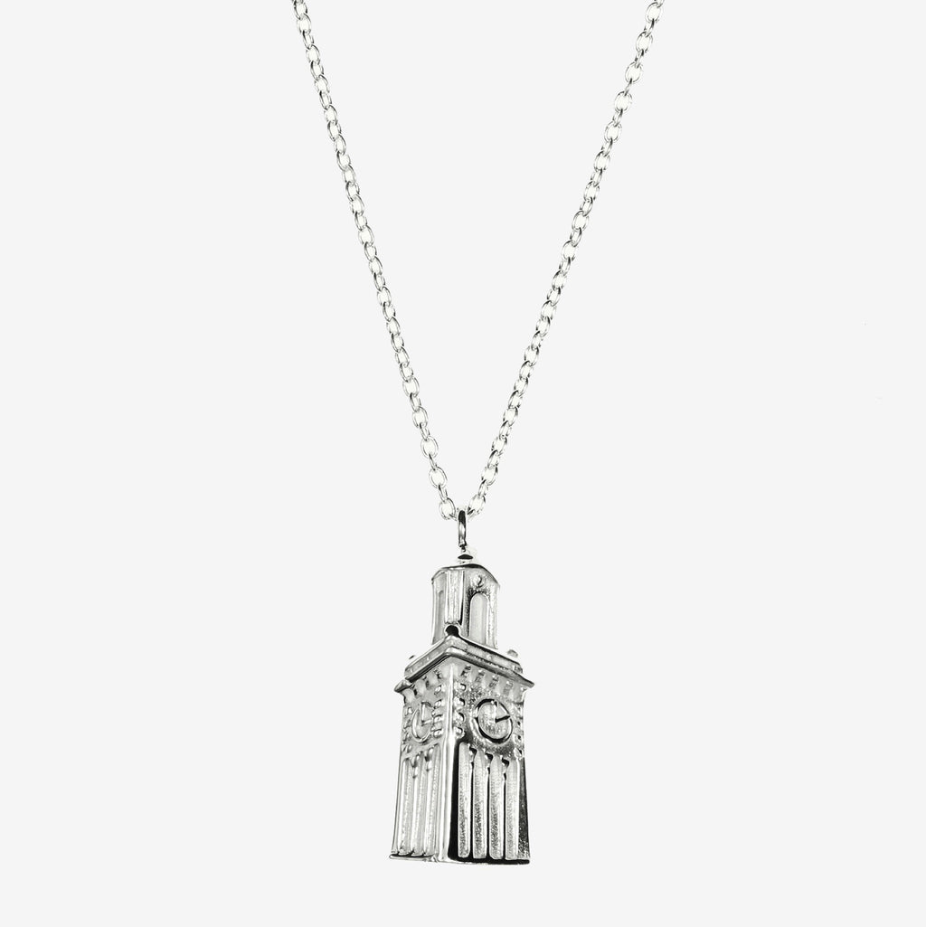 Silver Brown Carrie Tower Necklace