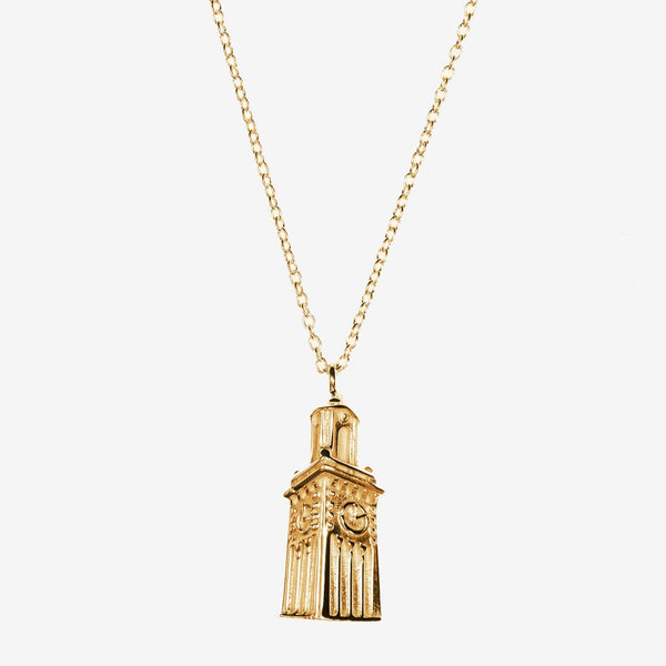 Gold Brown Carrie Tower Necklace