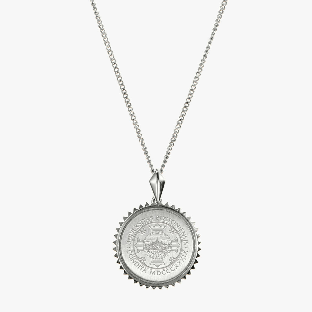BU Sunburst Necklace Sterling Silver