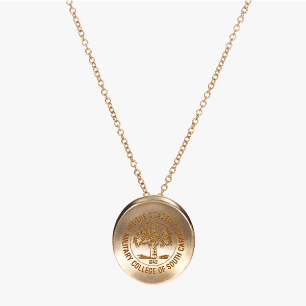 Gold Citadel Organic Crest Necklace