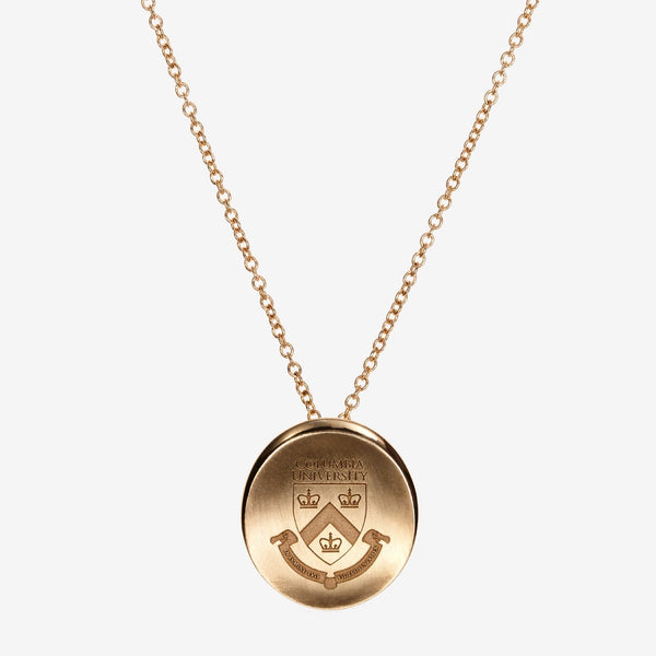 Gold Columbia Organic Crest Necklace