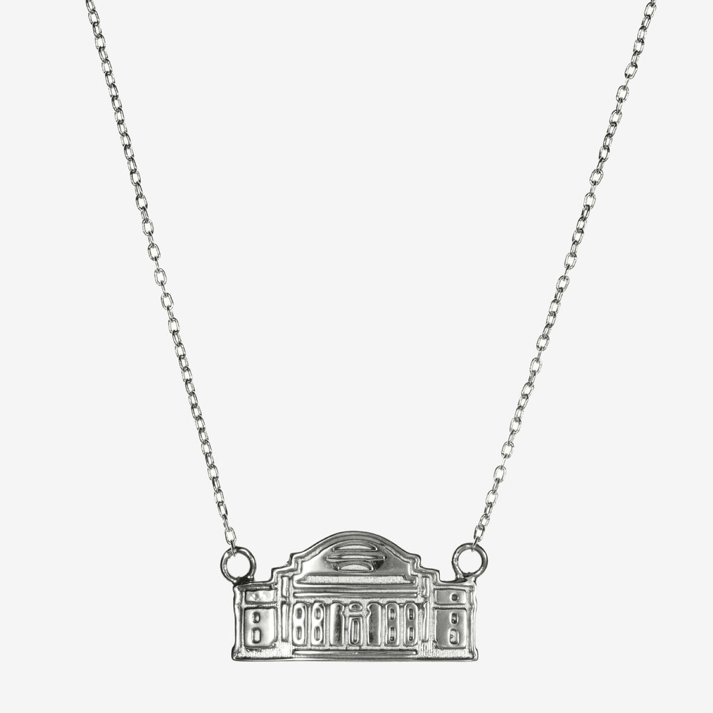 Silver Columbia Low Memorial Library Necklace
