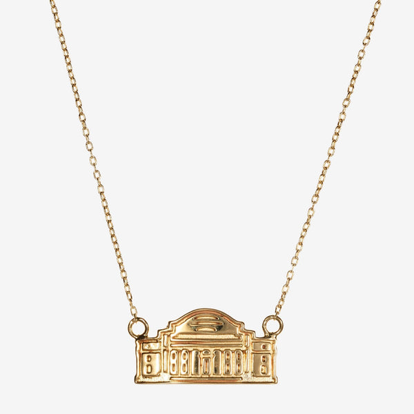 Gold Columbia Low Memorial Library Necklace