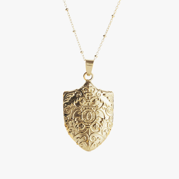 Gold Columbia Gates Necklace