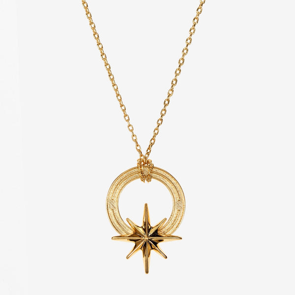 Gold Compass Star Necklace