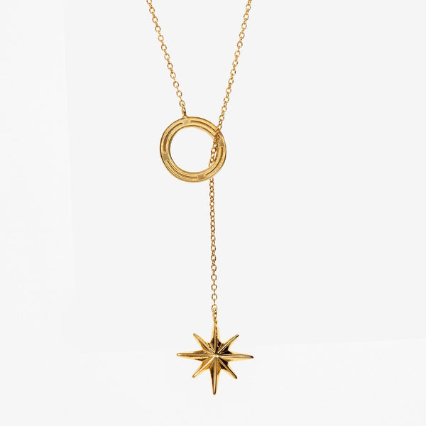 Gold Compass Star Lariat