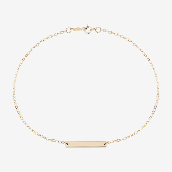 Personalized Horizontal Bracelet Gold