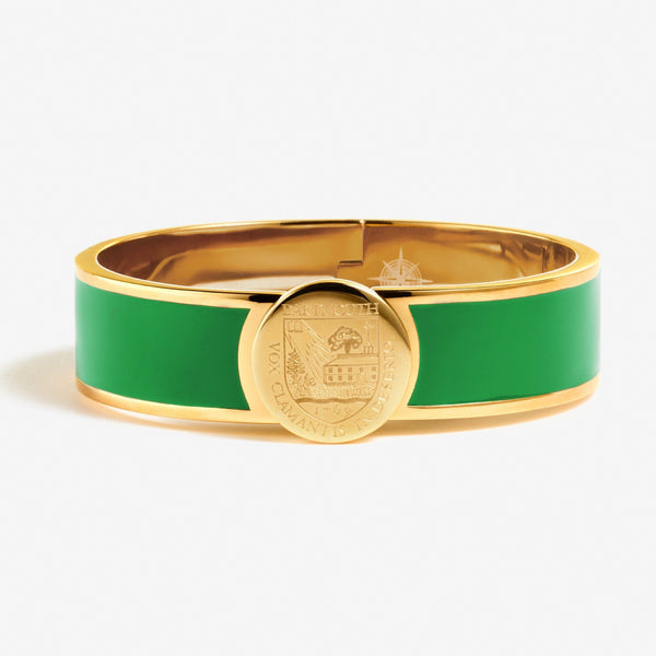 Green Dartmouth Enamel Crest Bracelet