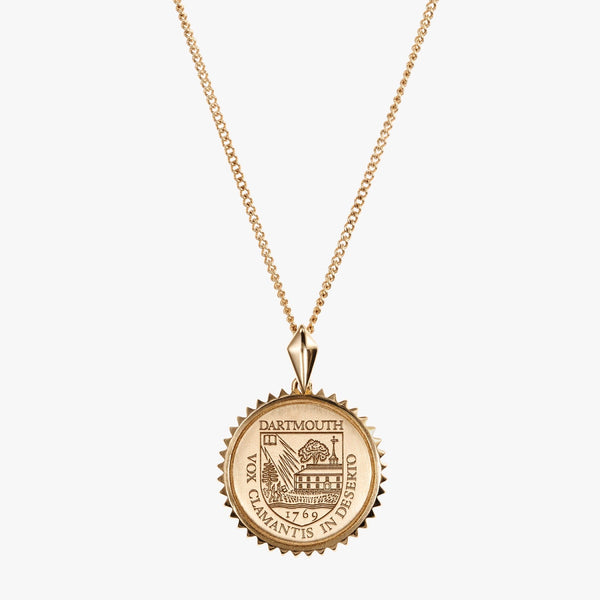 Gold Sunburst Crest Necklace