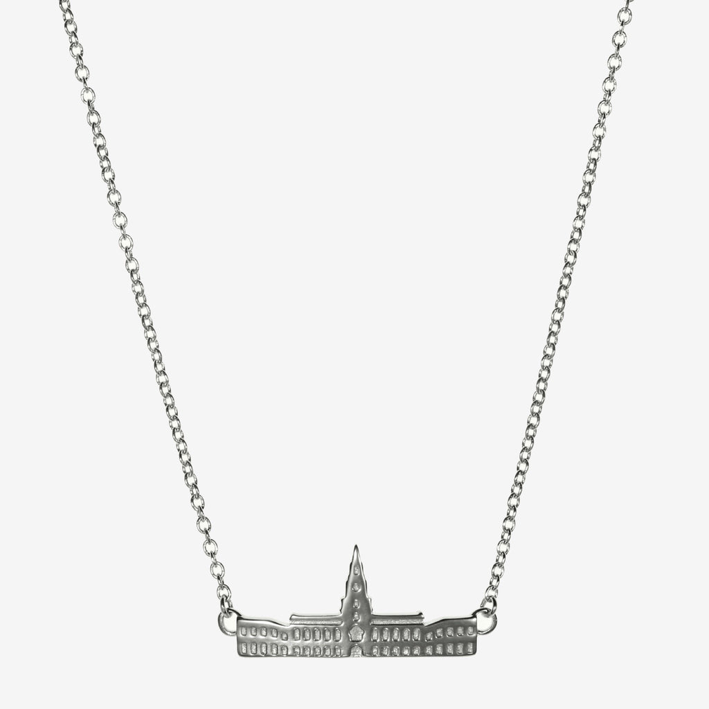 Silver Dartmouth Baker-Berry Library Necklace