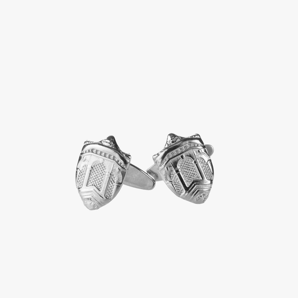 Silver Dartmouth Hall Cufflinks