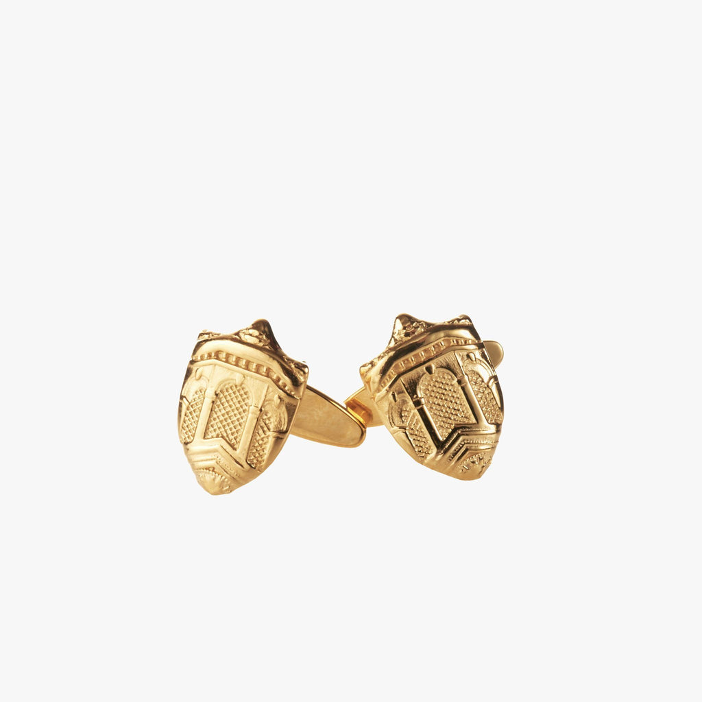Gold Dartmouth Hall Cufflinks