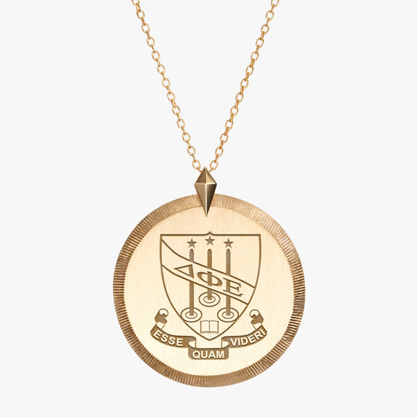 Gold Delta Phi Epsilon Florentine Necklace