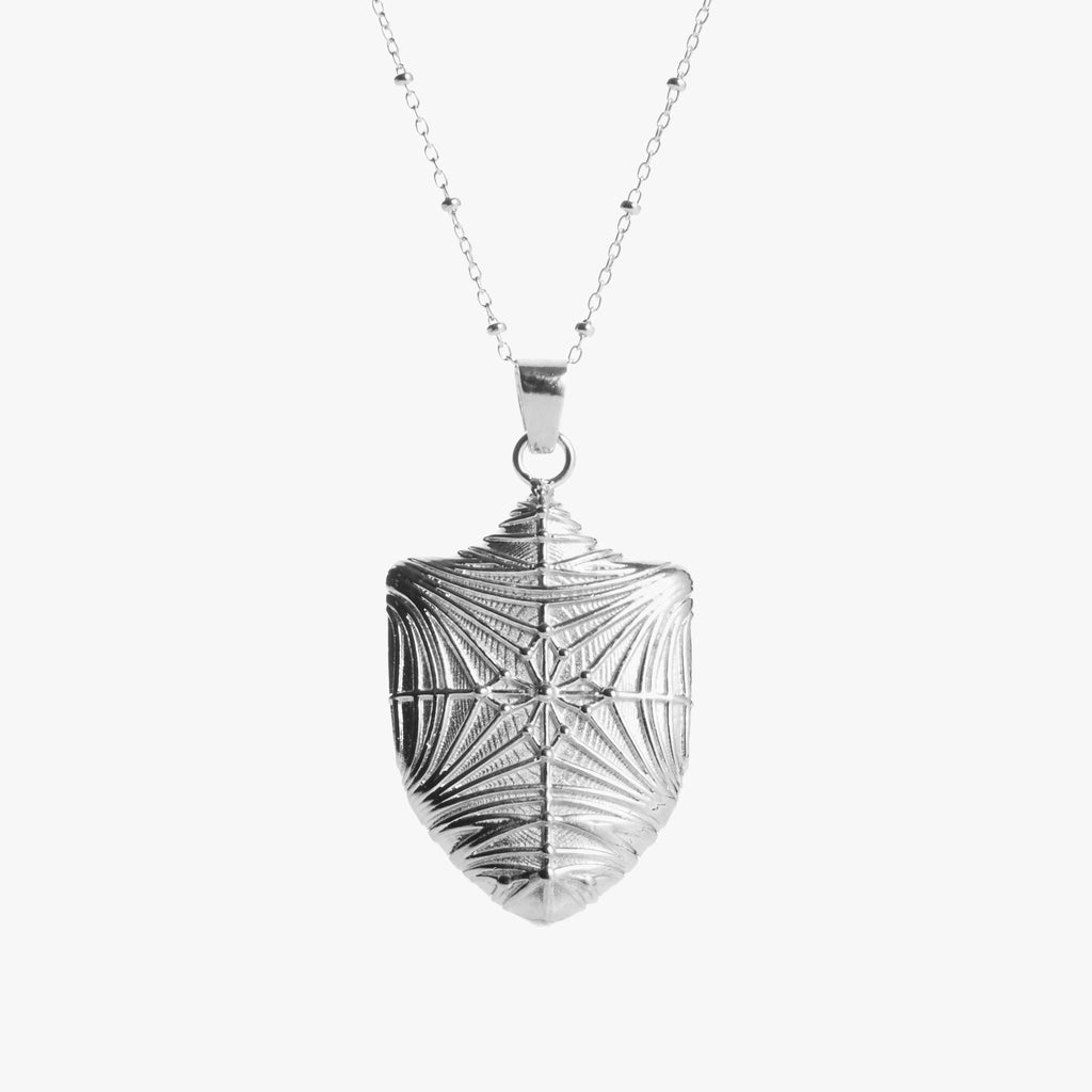 Duke Chapel Shield Necklace Silver