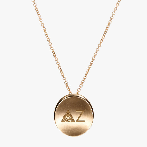 Gold Delta Zeta Letters Necklace