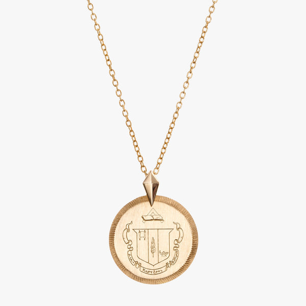 Gold Delta Zeta Florentine Necklace Petite