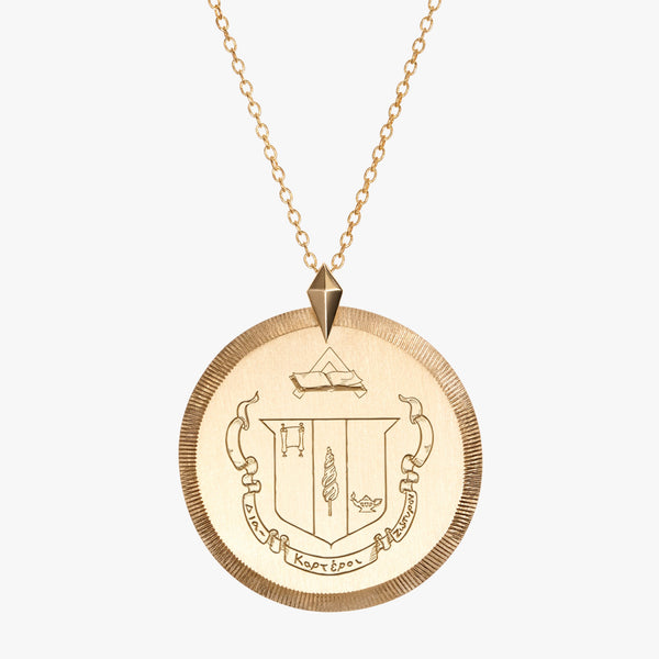 Gold Delta Zeta Florentine Necklace