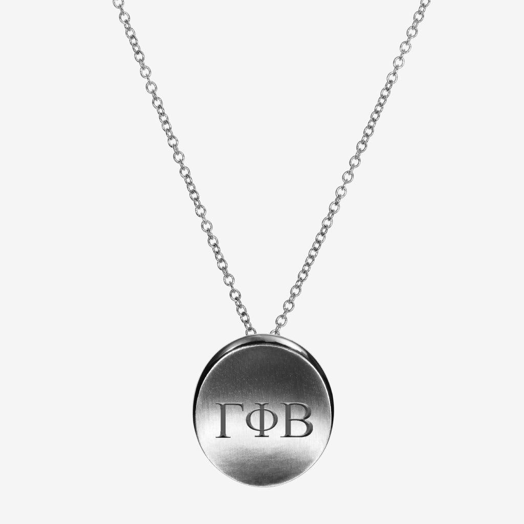 Silver Gamma Phi Beta Letters Necklace