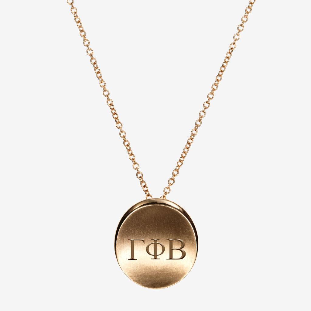 Gold Gamma Phi Beta Letters Necklace