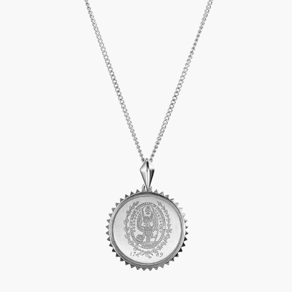 Georgetown Sunburst Necklace Sterling Silver