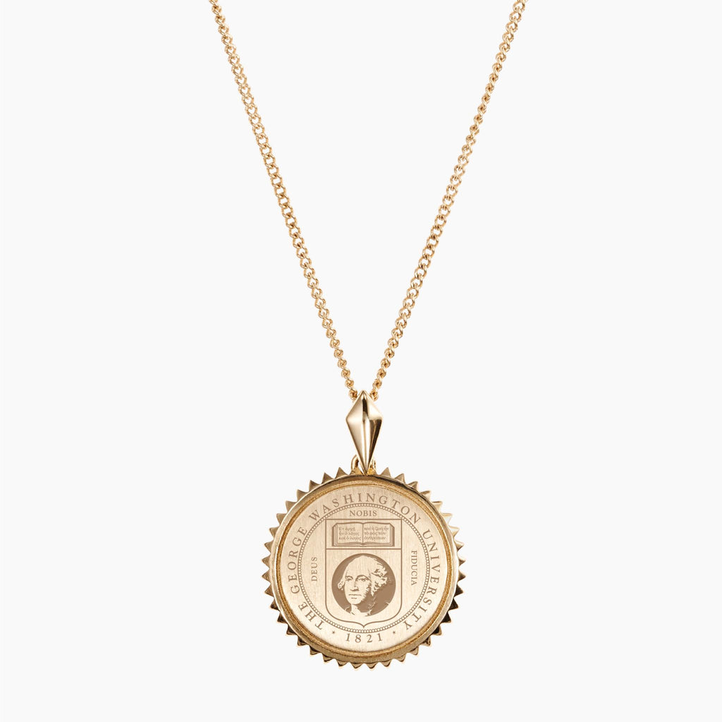 Gold GW Sunburst Necklace