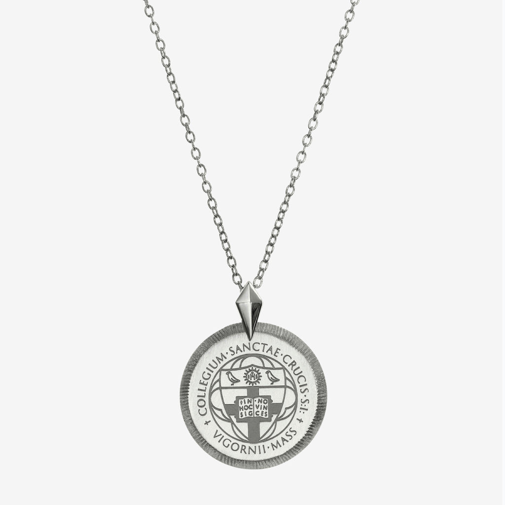 Silver Florentine Crest Necklace