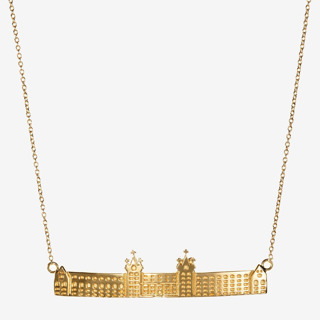 Gold Holy Cross Fenwick Hall Necklace