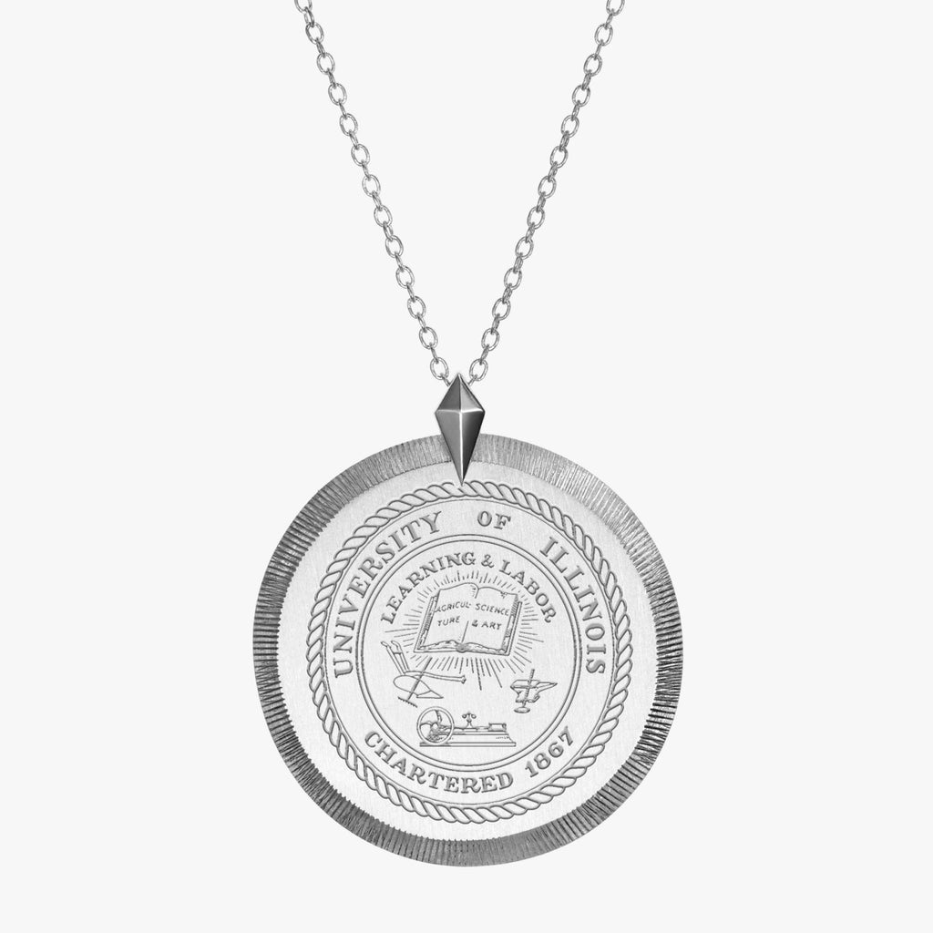 Illinois Florentine Necklace Silver