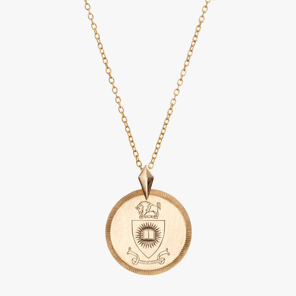 Gold Indiana Coat of Arms Florentine Necklace Petite