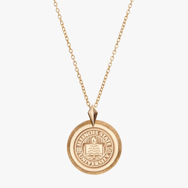 Illinois State Florentine Necklace Petite