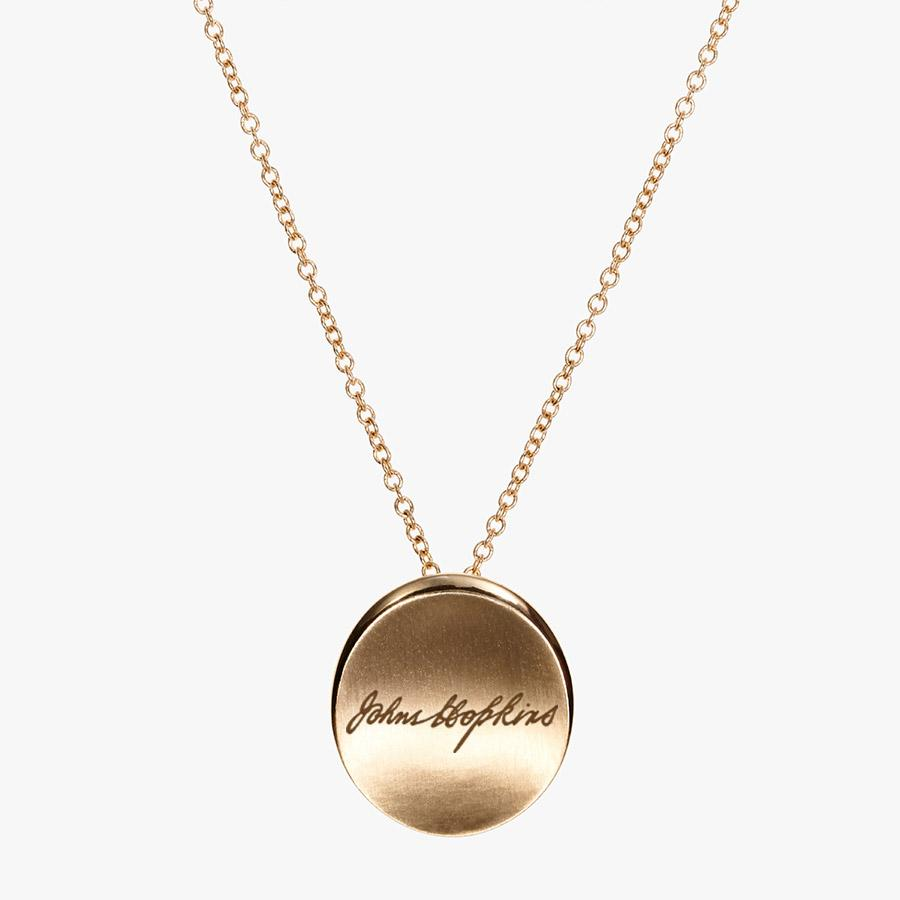 Gold John Hopkins Organic Script Necklace