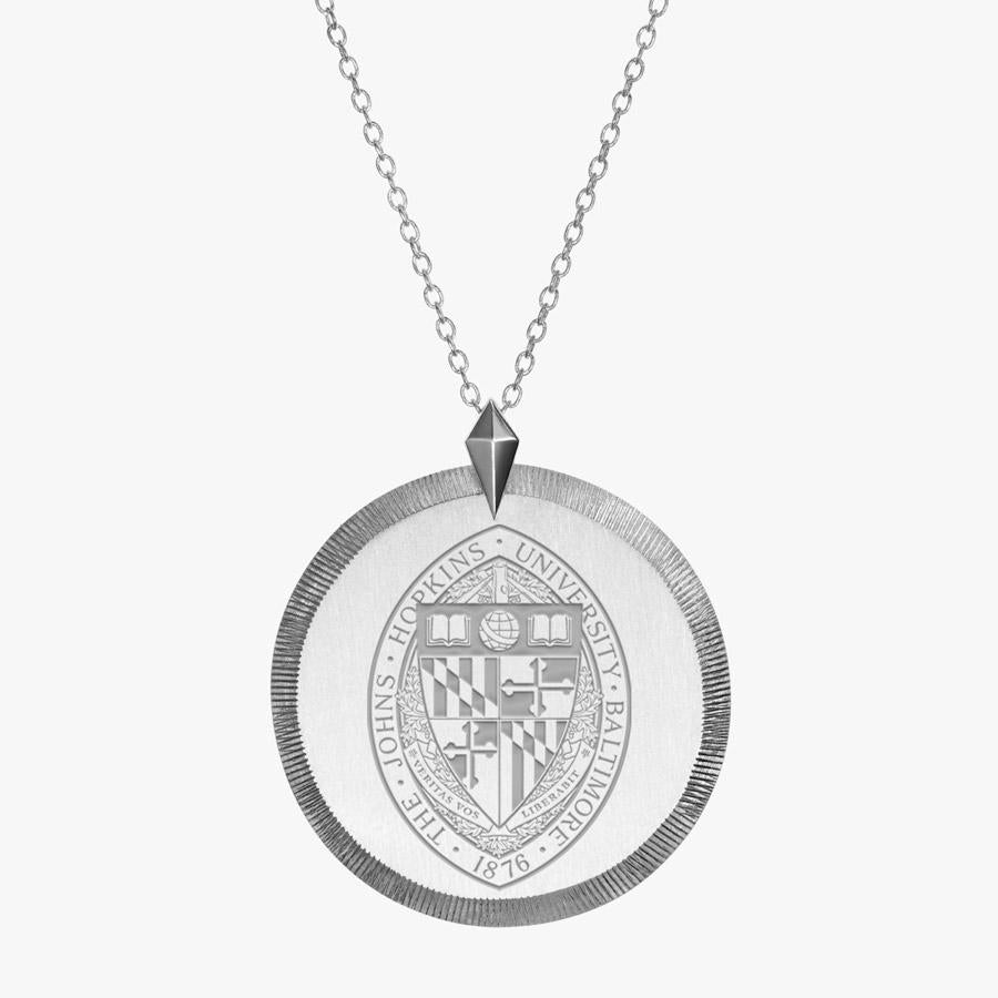 Silver John Hopkins Florentine Necklace