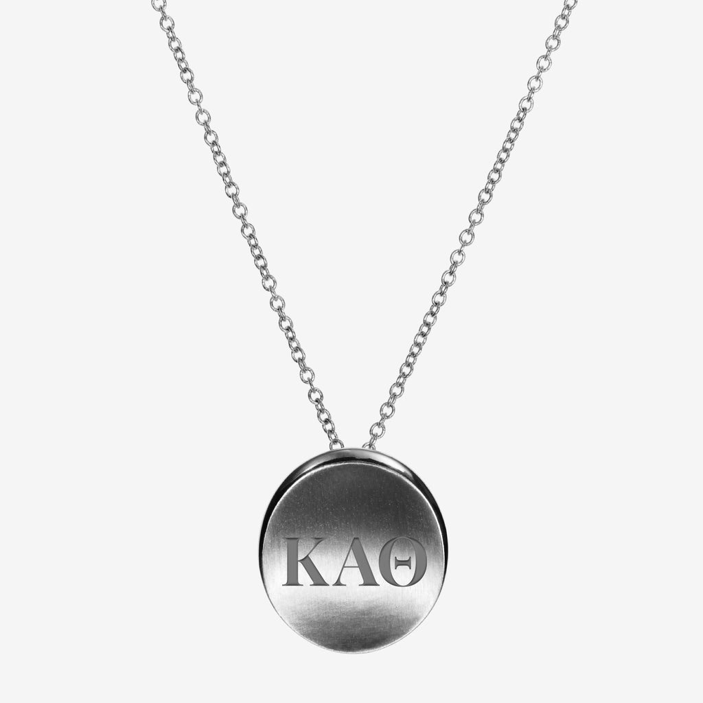Sterling Silver Kappa Alpha Theta Letters Necklace