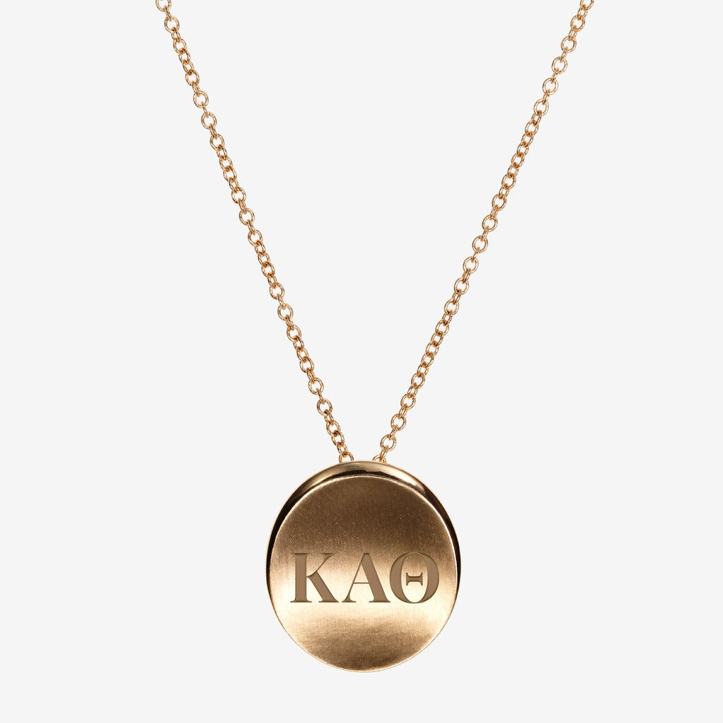 Gold Kappa Alpha Theta Letters Necklace