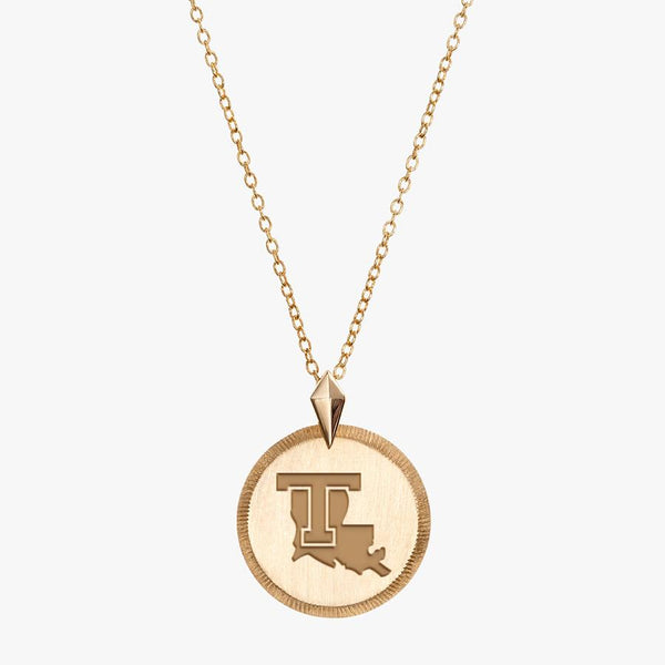 Gold LA Tech Florentine Necklace Petite