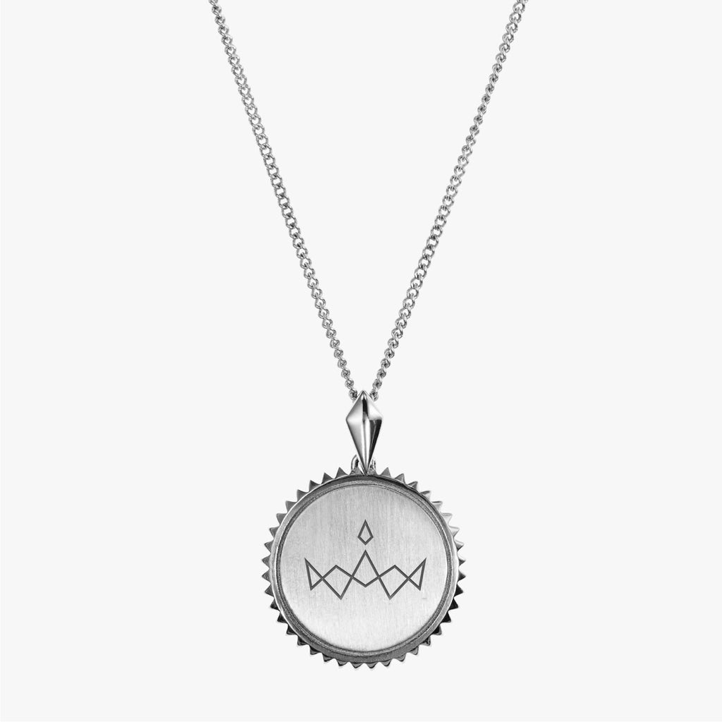 Silver Miss America Sunburst Necklace
