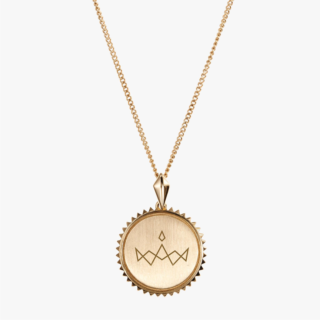 Gold Miss America Sunburst Necklace