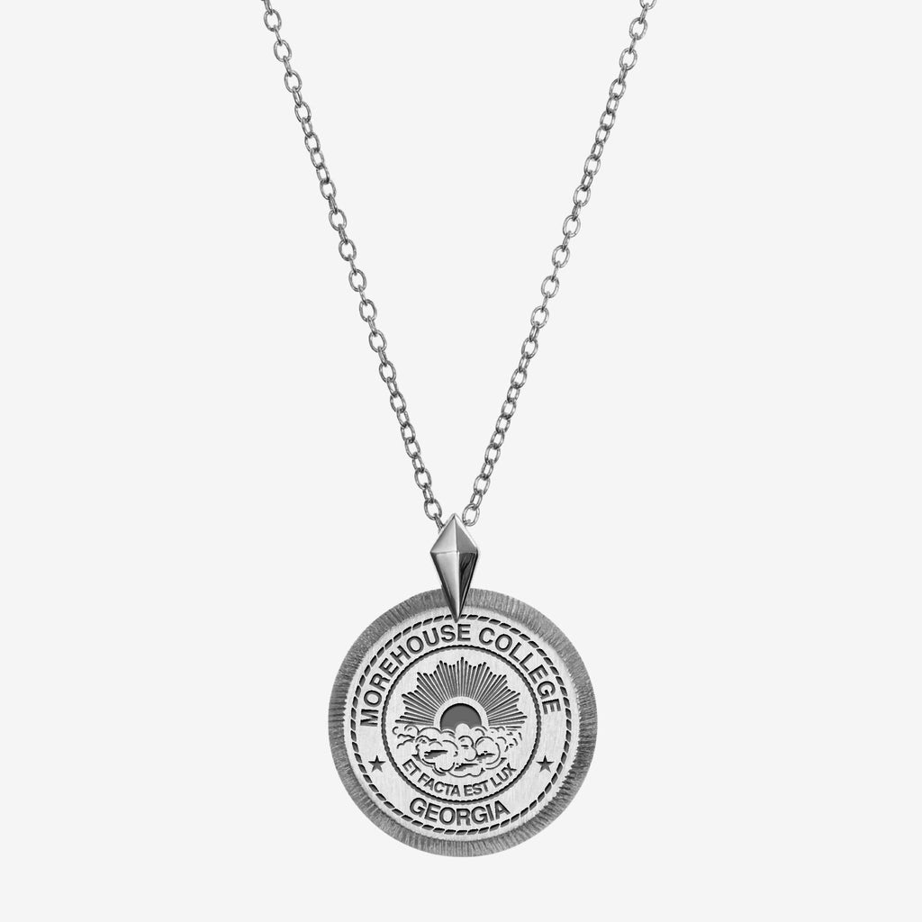 Silver Morehouse College Florentine Necklace Petite