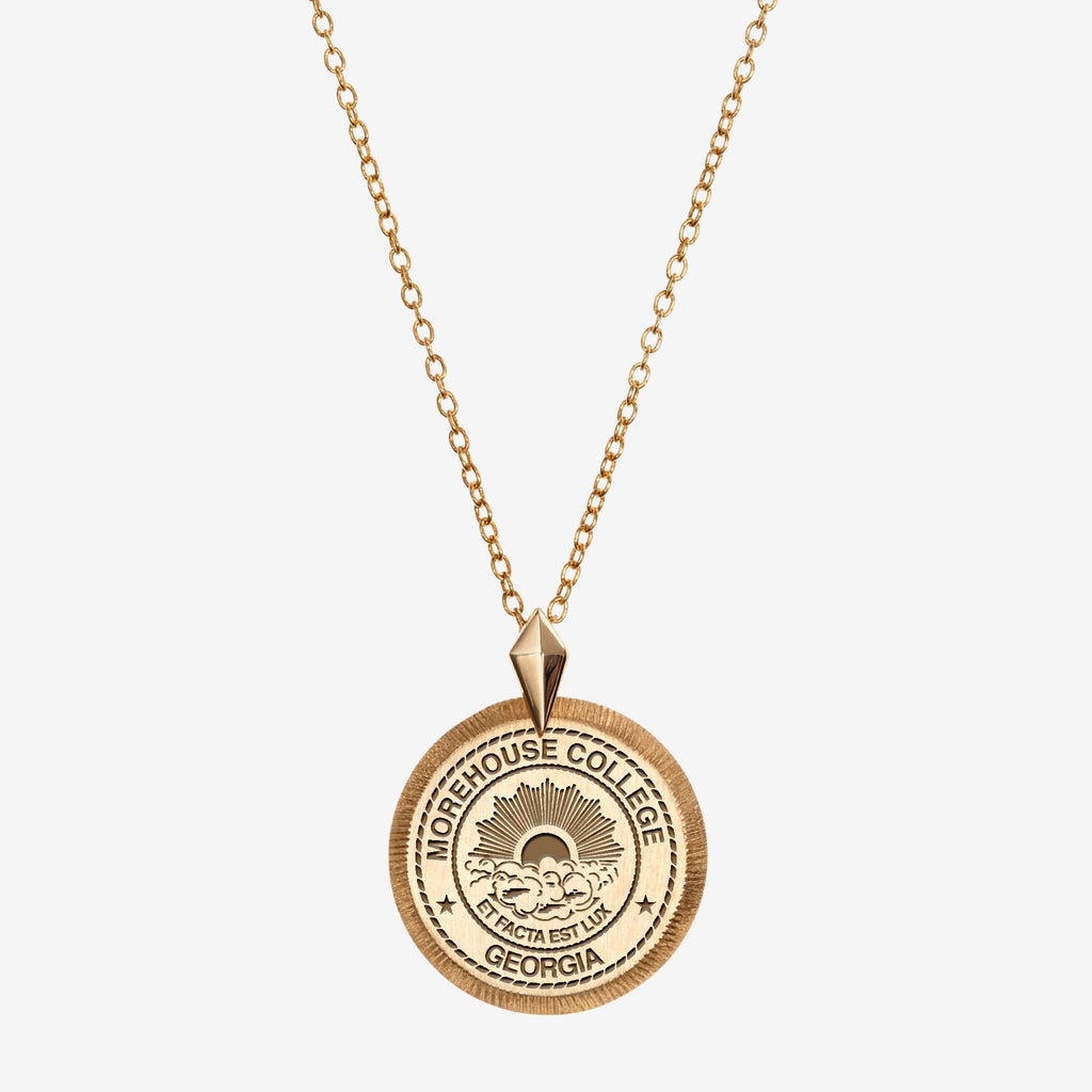 Gold Morehouse College Florentine Necklace Petite