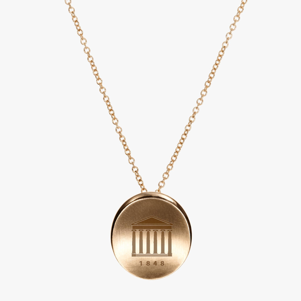Gold Ole Miss Organic Crest Necklace