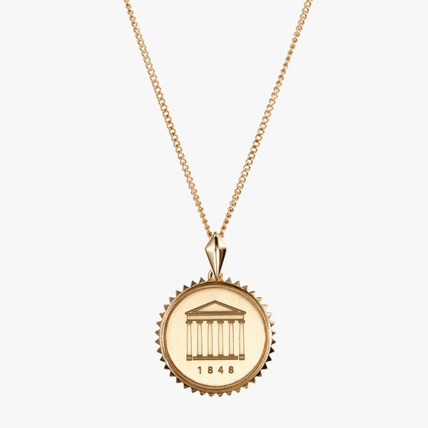 Gold Ole Miss Sunburst Necklace